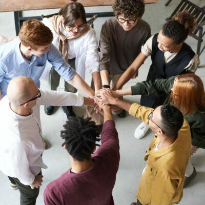 Teamwork business collaboration